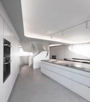 Dinosaur head house - kitchen