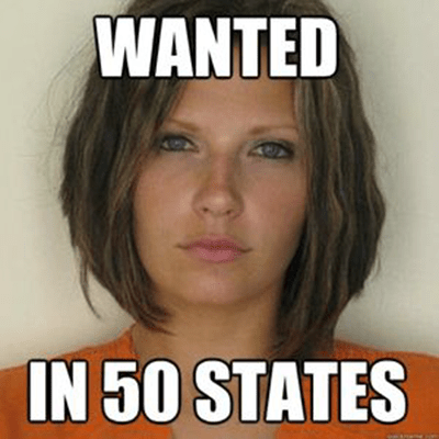 Meagan McCullough mugshot - wanted in 50 states
