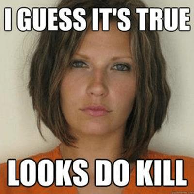 Meagan McCullough mugshot - I guess it's true - looks do kill