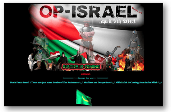 Anonymous breaks into Israeli webiste in Op-Israel campaign