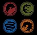 Ender's Game Battle School logos