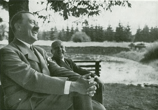 Hitler laughing