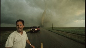 Tim Samaras watching a nearby tornado