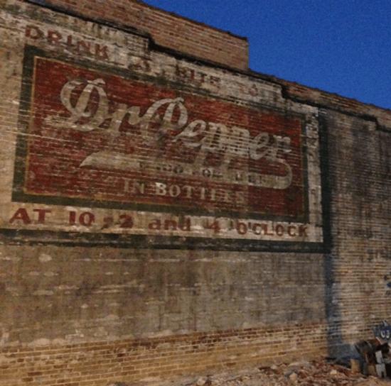 Historic Dr Pepper sign uncovered in Little Rock, Arkansas