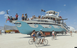 Ships in the desert - only at a Burning Man event