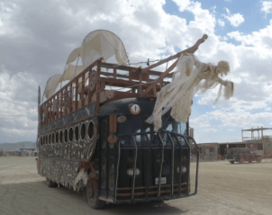 A bizarre bus at Burning Man 2013