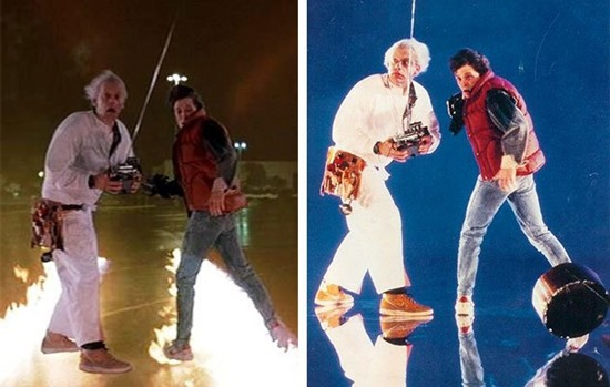 Blue screen special effect in Back to the Future
