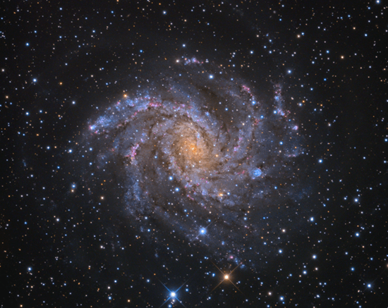 NGC 6946 (also known as the Fireworks Galaxy, Arp 29, and Caldwell 12)