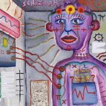 Artistic view of how the world feels like with schizophrenia