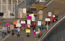 Funny protestors in Seattle Interactive Gigapixel image