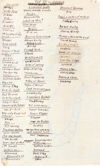 Top 50 by Nirvana