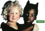 The Benetton Group (Italian clothing manufacturer) is known for controversial ads but we're not sure they meant to portray the white girl as an angel and the black child as the devil - or did they?