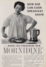 This Mornidine advertisement puts the woman in her place
