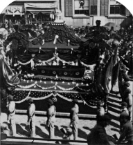 Rare photograph of Abraham Lincoln funeral procession