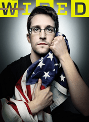 Edward Snowden on the cover of Wired magazine