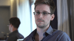 Edward Snowden during a television interview