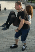 Well-timed photo makes twisted couple look like they've swapped heads