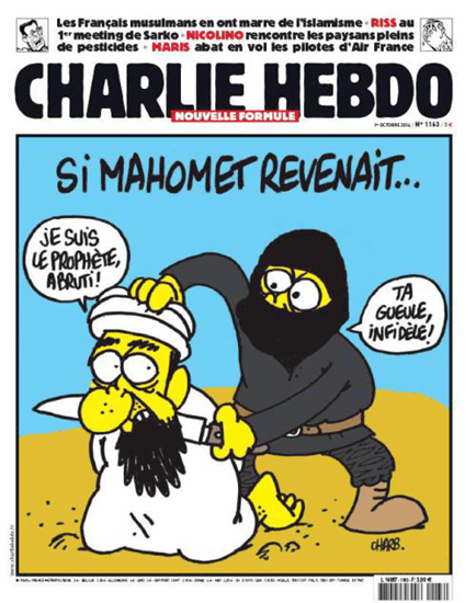 October 2014 cover depicting the beheading of Mohammed