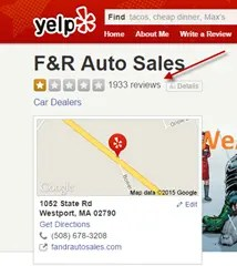 After the incident, F&R Auto Sales reviews plumetted on several review websites