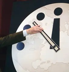The time on the Doomsday Clock is only changed on average once every 3 years