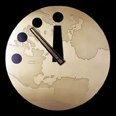 The Doomsday Clock at the University of Chicago in Illinois