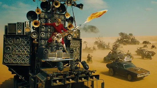 Mad Max: Fury Road's flame throwing guitar player–meet the Doof machine