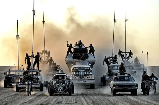 Check out this collection of cars from Mad Max: Fury Road!