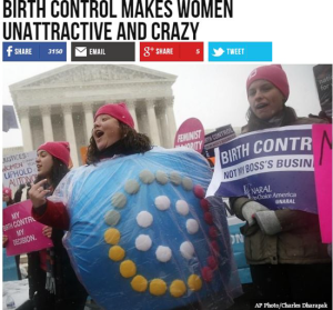 Real Breitbart headling: Birth control makes women unattractive and crazy