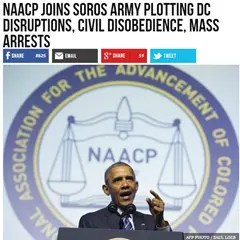 Real Breitbart headline: NAACP joins Soros army plotting DC disruptions, civil disobedience, mass arrests
