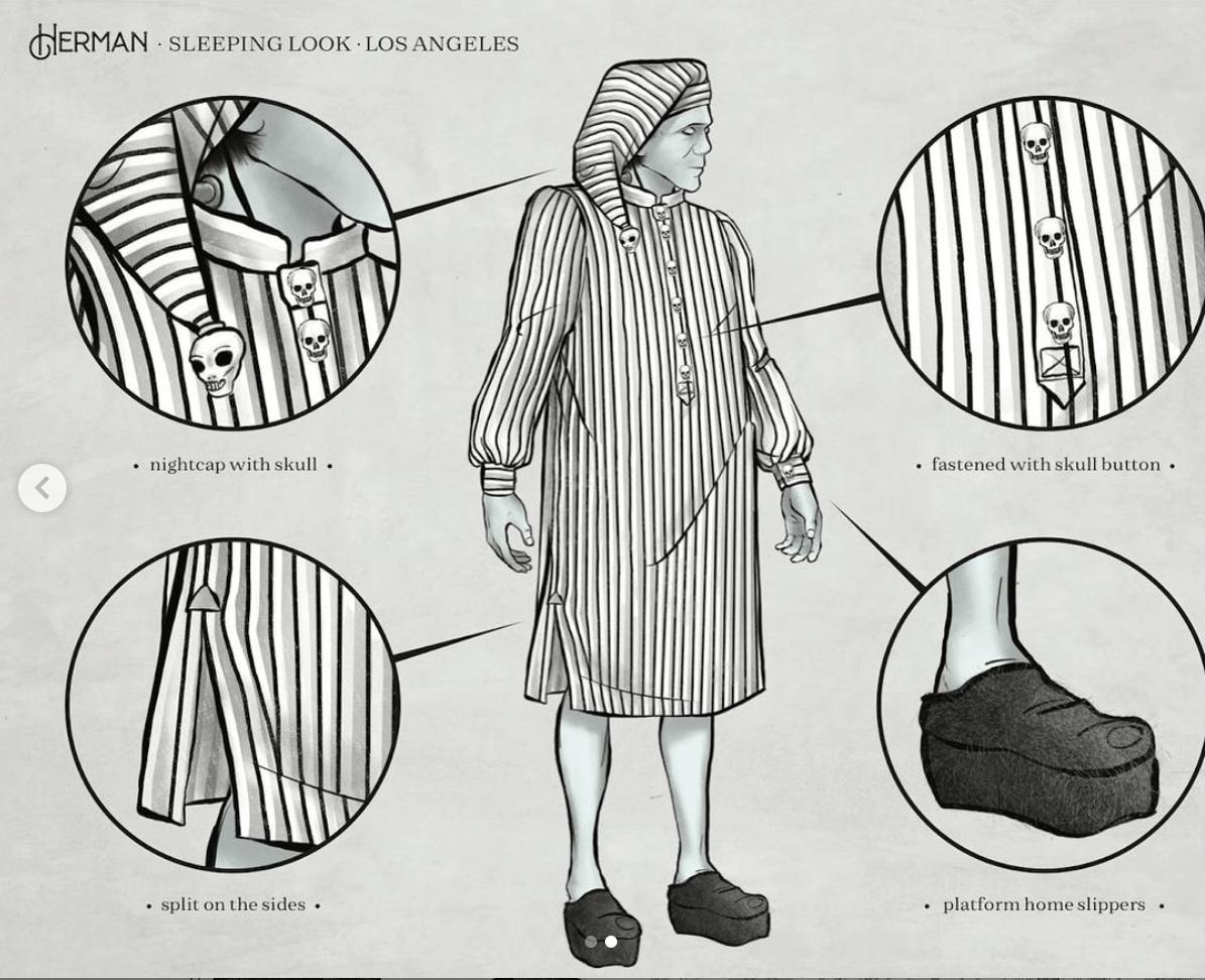 Herman Munster costume design