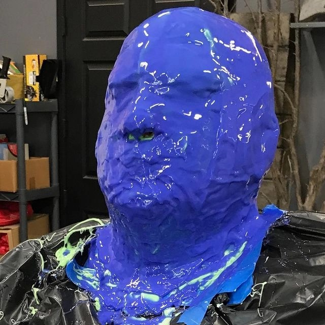 Special effects from Munsters movie blue mold