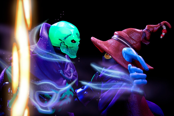 Masters of the Universe Revelation Savage He-Man with Orko - Orko