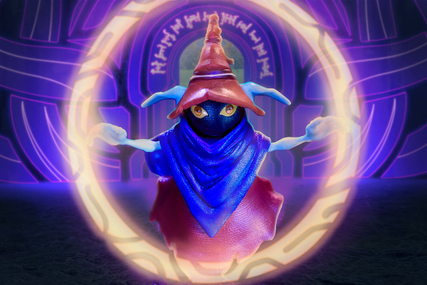 Masters of the Universe Revelation Savage He-Man with Orko - orko in ring