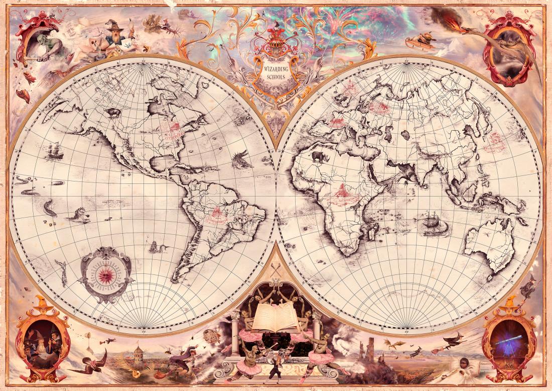 Mapa de las Escuelas de Magia en Harry Potter
