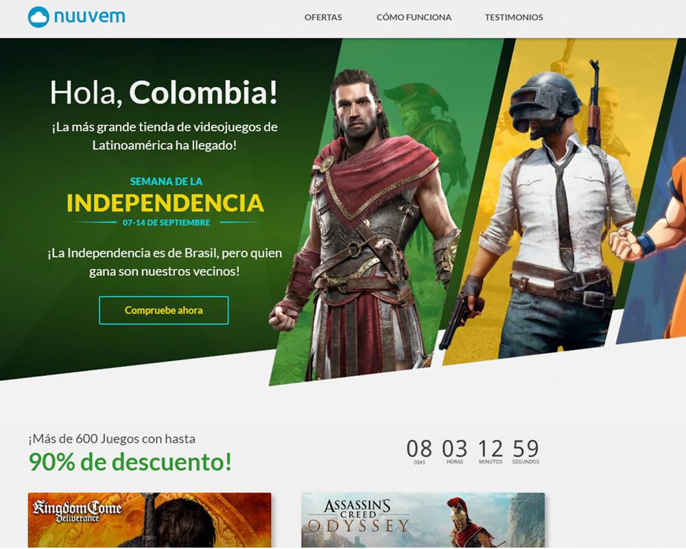 Nuuvem ya está en Colombia