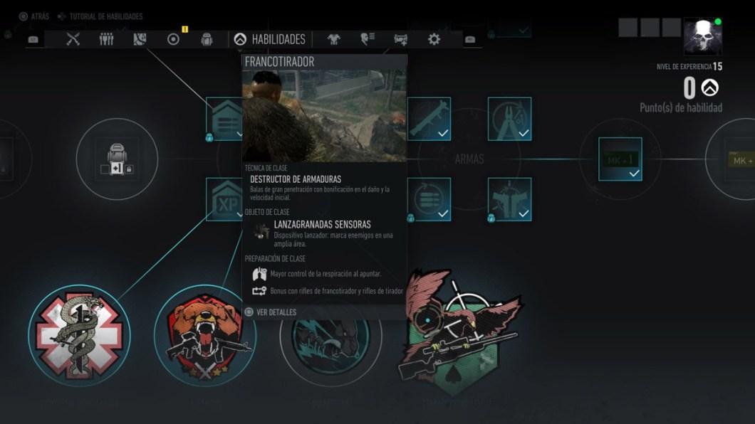 Ghost Recon Breakpoint - Árbol de habilidades