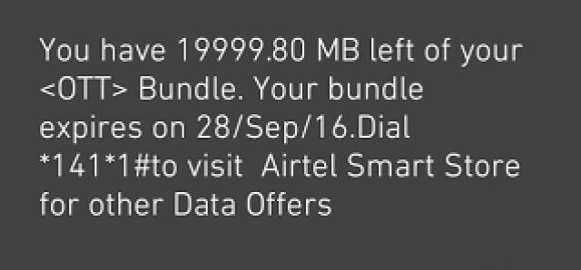 Airtel 10gb For N100