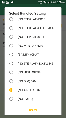 Airtel live browsing cheat