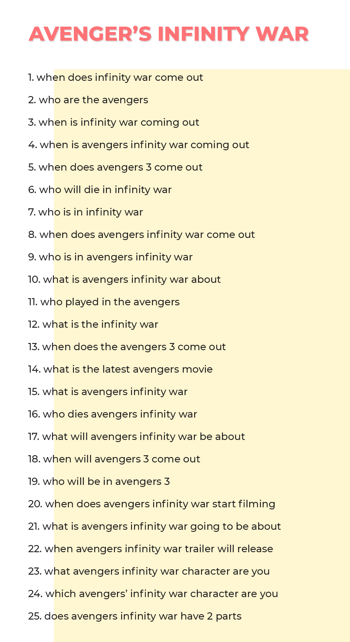 Top 25 Questions People Asked On About Avengers