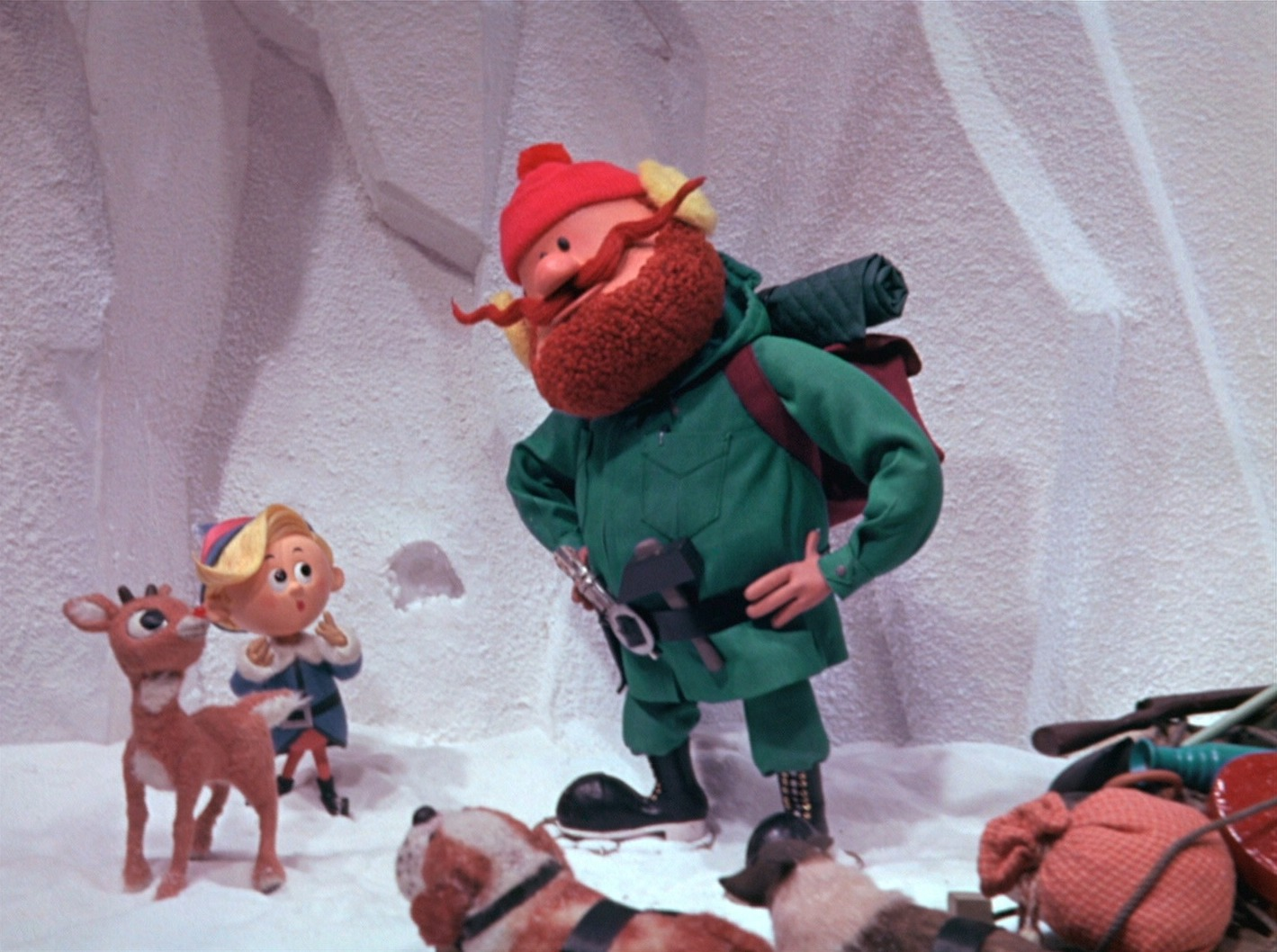 Yukon Cornelius And Rudolph In Rudolph The Red Nosed Reindeer