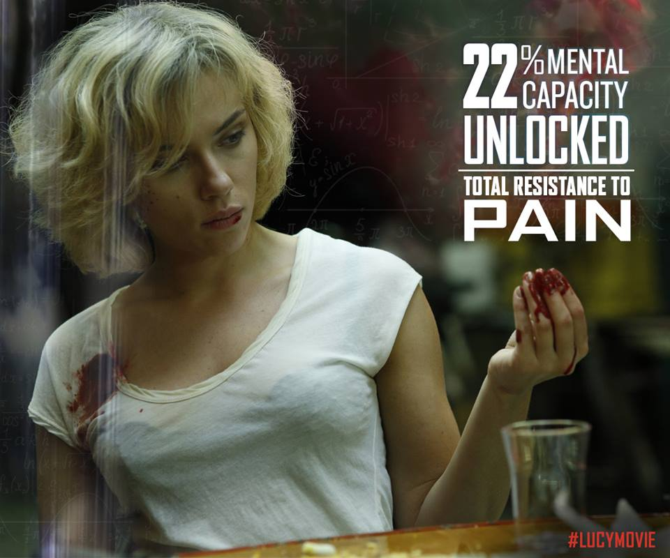 Lucy Movie Graphic Total Resistance To Pain