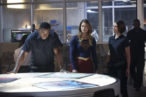 """Hostile Takeover"" -- Kara goes toe-to-toe with Astra when her aunt challenges Kara's beliefs about her mother, on SUPERGIRL, Monday, Dec. 14 (8:00-9:00 PM, ET/PT) on the CBS Television Network. Pictured left to right: David Harewood, Melissa Benoist and Chyler Leigh Photo: Monty Brinton/CBS ©2015 CBS Broadcasting, Inc. All Rights Reserved"