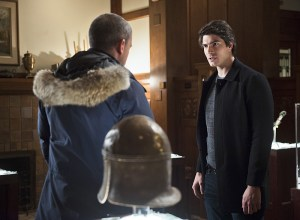 "DC's Legends of Tomorrow -- ""Pilot, Part 2"" -- Image LGN102_20150922_0065b.jpg -- Pictured (L-R): Wentworth Miller as Leonard Snart/Captain Cold and Brandon Routh as Ray Palmer/Atom -- Photo: Diyah Perah/The CW -- © 2015 The CW Network, LLC. All Rights Reserved."