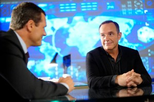 """MARVEL'S AGENTS OF S.H.I.E.L.D. - """"Meet the New Boss"""" - Daisy goes to battle Ghost Rider at a terrible cost, and Coulson faces the new Director, and his bold agenda surprises them all, on """"Marvel's Agents of S.H.I.E.L.D.,"""" TUESDAY, SEPTEMBER 27 (10:00-11:00 p.m. EDT), on the ABC Television Network. (ABC/Jennifer Clasen) JASON O'MARA, CLARK GREGG"""