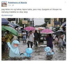 Baha ba? Ok lang may water Pokemon naman sa daan