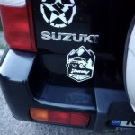 Waterproof Reflective Universal offroad Car Styling Vinyl car Sticker Exterior Decals car styling for SUZUKI JIMNY Black/Silver photo review