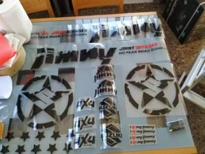 JIMNY car sticker Waterproof Reflective 2pcs Car Styling Door Reflective 4WD offroad Vinyl Sticker for SUZUKI JIMNY black&silver photo review