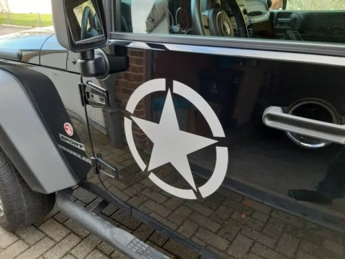 Waterproof Five-Pointed Star Body Car Styling Reflective Vinyl Sticker Refitting Exterior Decals for Jeep Cherokee Renegade etc photo review