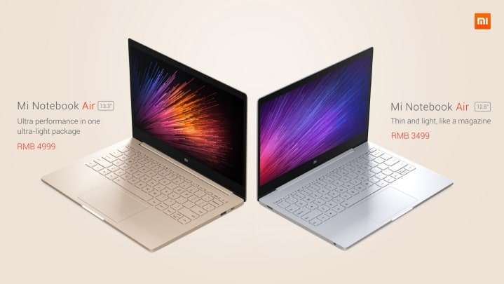 The new Xiaomi Mi Notebook Air comes in two sizes, a 13.3-inch and a 12.5-inch.