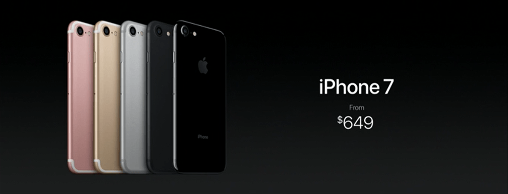 The iPhone 7 Plus is priced at $769 and the iPhone 7 is priced at $649. Both are available in 32GB, 128GB and 256GB models. The jet black variants are available in 128GB & 256GB versions only.